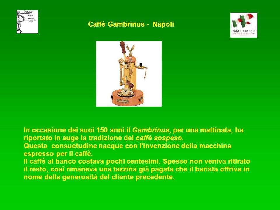 In occasione dei suoi 150 anni il Gambrinus, per una mattinata, ha riportato in auge la tradizione del caffè sospeso. Questa consuetudine nacque con l