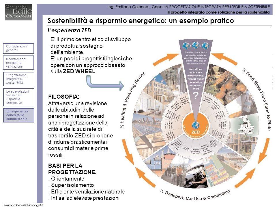 Lesperienza ZED Sostenibilità e risparmio energetico: un esempio pratico E il primo centro etico di sviluppo di prodotti a sostegno dellambiente. E un