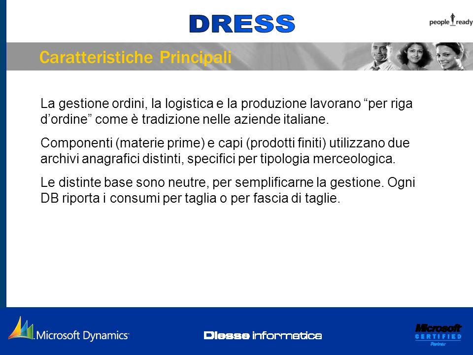 Caratteristiche Principali La gestione ordini, la logistica e la produzione lavorano per riga dordine come è tradizione nelle aziende italiane. Compon
