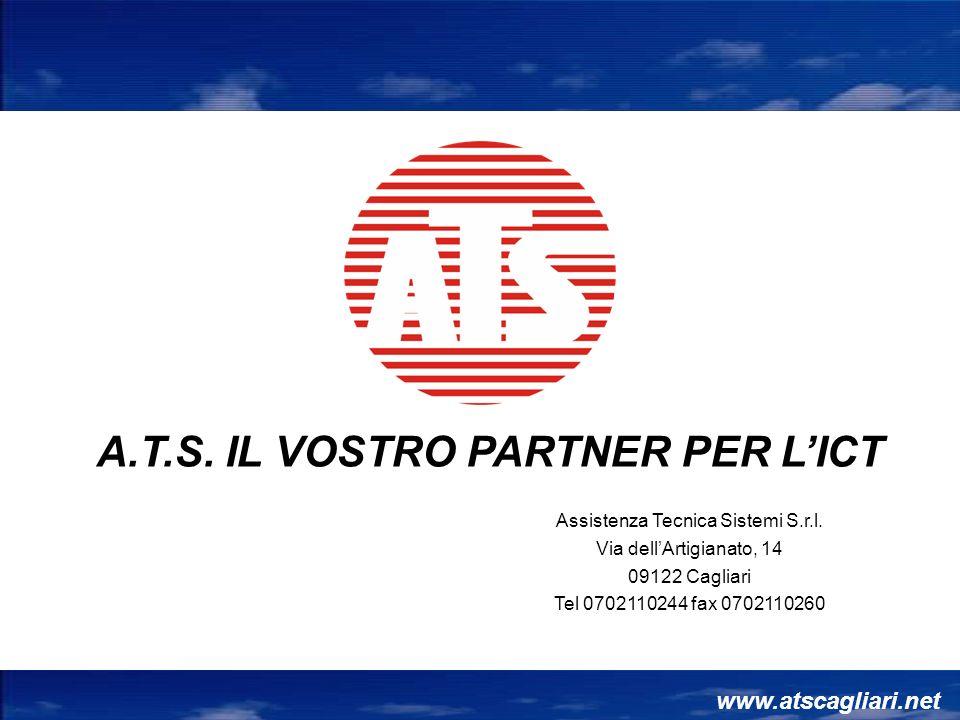 Assistenza Tecnica Sistemi S.r.l. Via dellArtigianato, 14 09122 Cagliari Tel 0702110244 fax 0702110260 www.atscagliari.net A.T.S. IL VOSTRO PARTNER PE