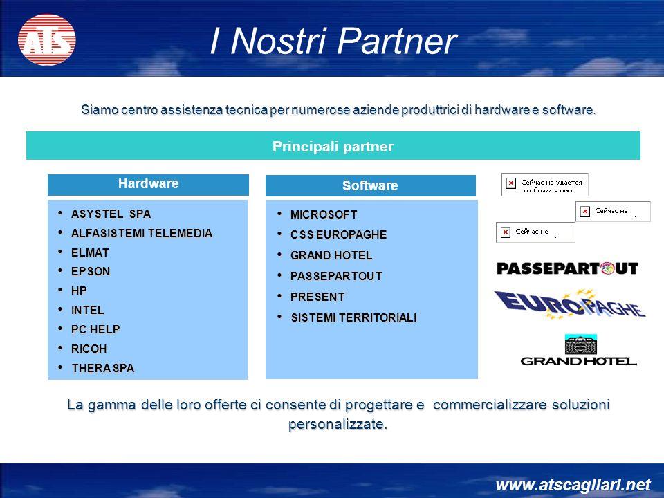 www.atscagliari.net Siamo centro assistenza tecnica per numerose aziende produttrici di hardware e software. Hardware ASYSTEL SPA ASYSTEL SPA ALFASIST