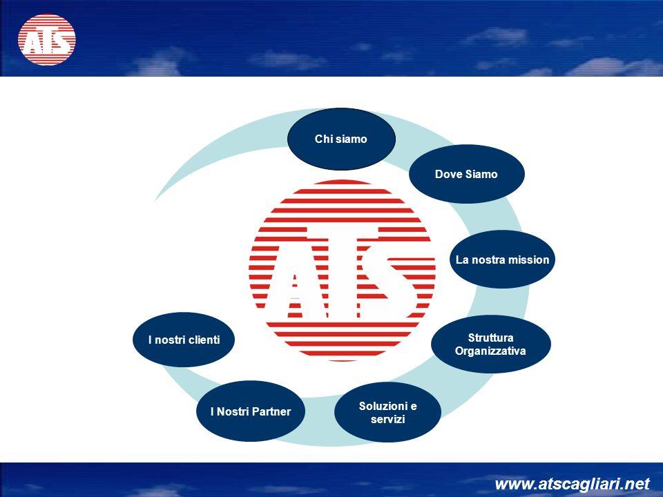 www.atscagliari.net Chi siamo Struttura Organizzativa I Nostri Partner Soluzioni e servizi Dove Siamo La nostra mission I nostri clienti