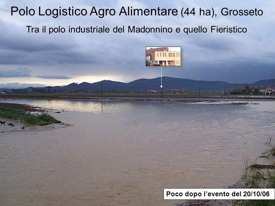 Polo Logistico Agro Alimentare (44 ha), Grosseto Poco dopo levento del 20/10/06 Tra il polo industriale del Madonnino e quello Fieristico