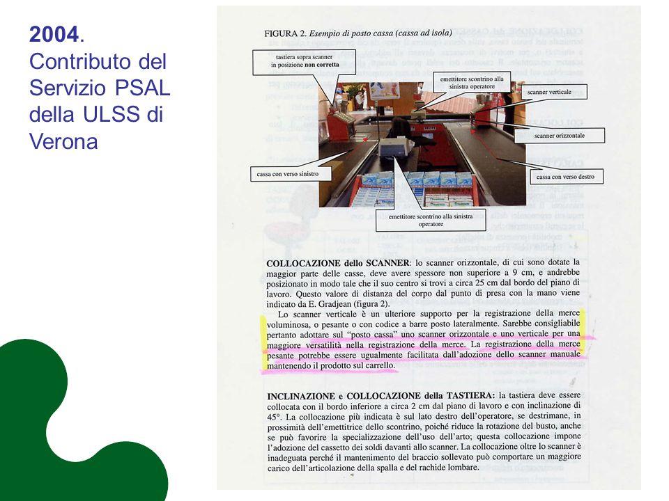 2004. Contributo del Servizio PSAL della ULSS di Verona