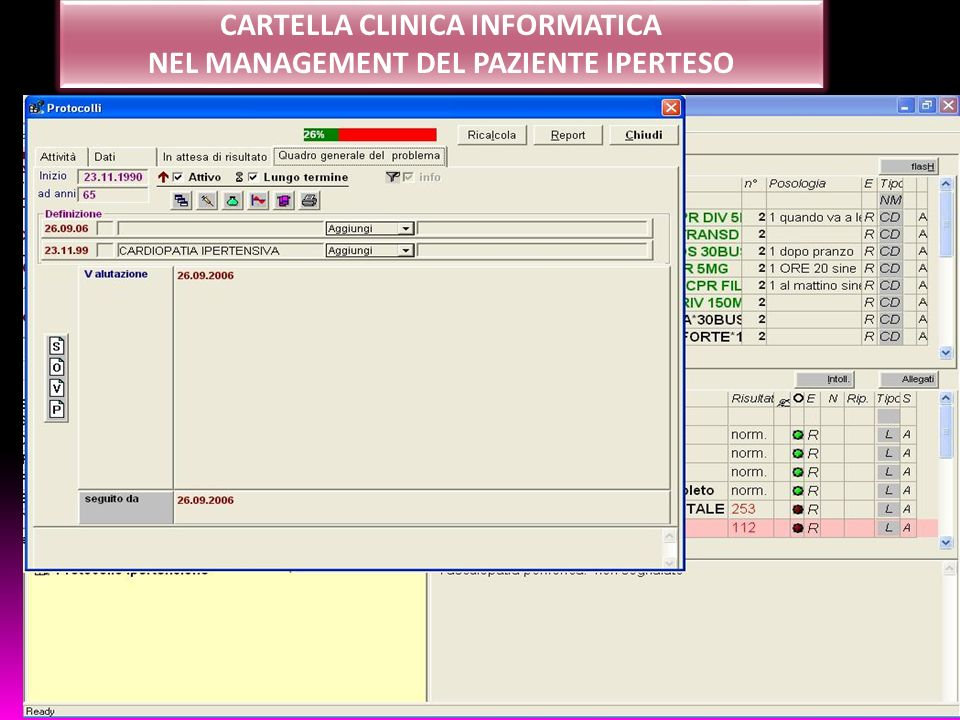 CARTELLA CLINICA INFORMATICA NEL MANAGEMENT DEL PAZIENTE IPERTESO