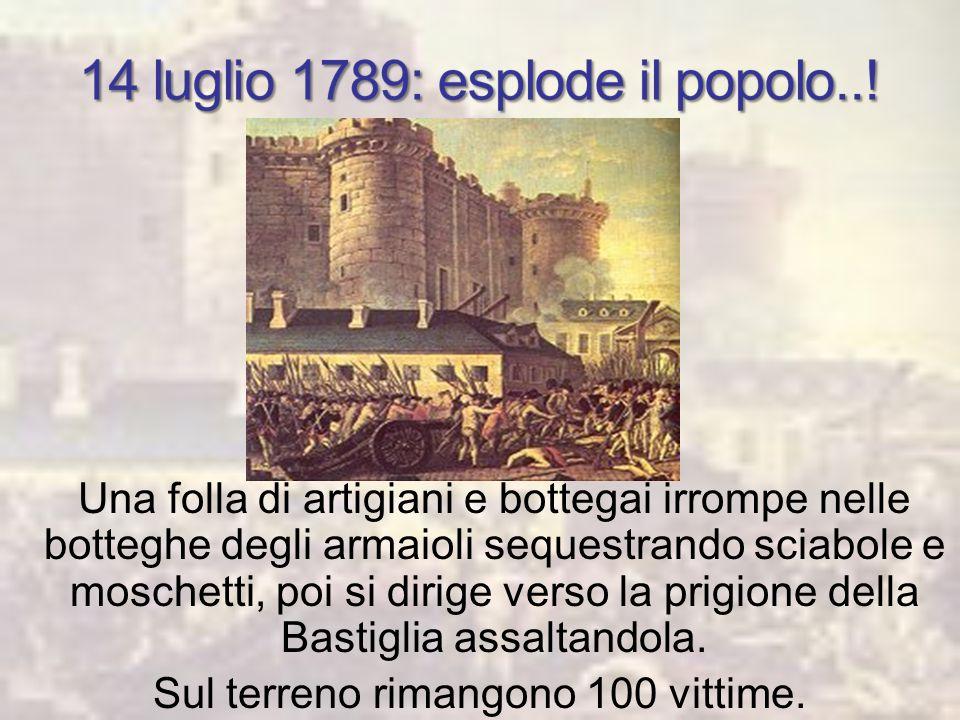 17 giugno 1789: il Terzo Stato, non ricevendo risposta, si proclama Assemblea Nazionale. 20 giugno 1789: si dichiarano sciolti gli Stati generali. I r