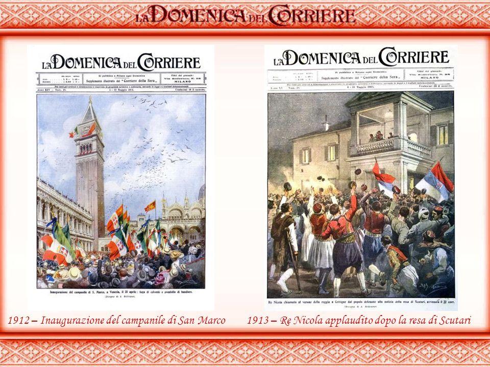 1907 – Sfilata dei tori in una sagra romagnola 1912 – Rottura acquedotto a Venezia