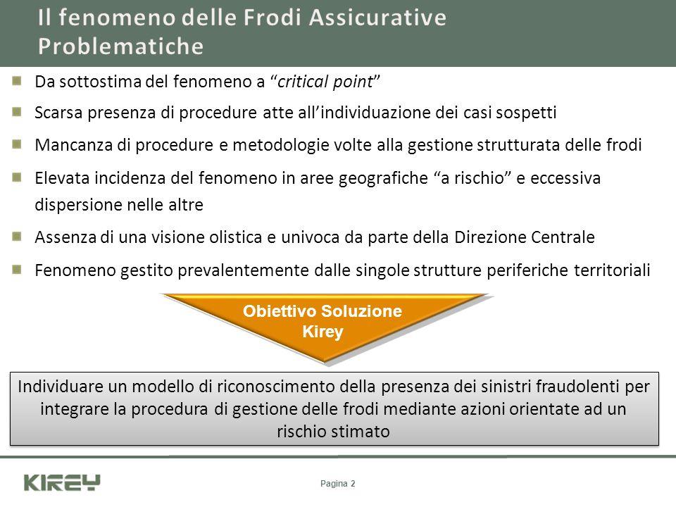 Da sottostima del fenomeno a critical point Scarsa presenza di procedure atte allindividuazione dei casi sospetti Mancanza di procedure e metodologie