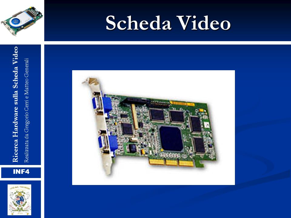 Scheda Video Ricerca Hardware sulla Scheda VideoRealizzata da Gregorio Cerri e Matteo Generali INF4