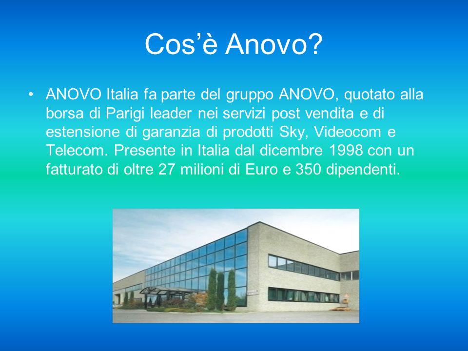 Relazione sullo stage presso anovo italia spa nel periodo 28/03/11 al 09/04/11: Palomba Enrici Tessa Isufaj