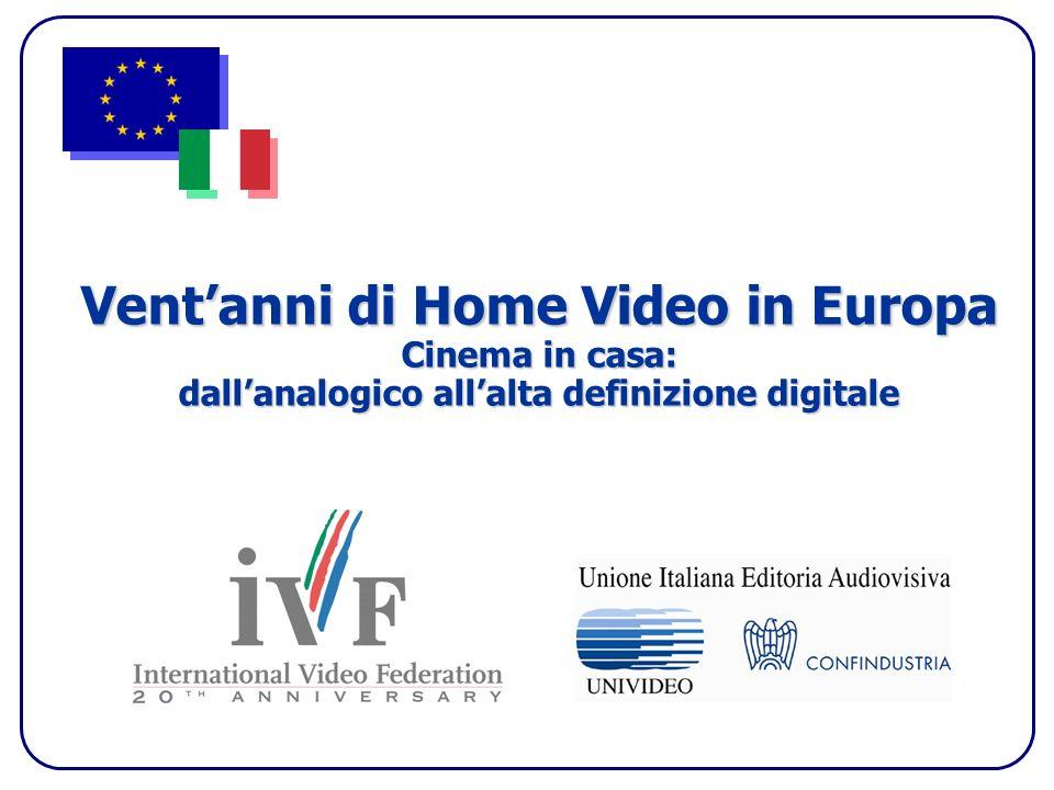 Ventanni di Home Video in Europa Cinema in casa: dallanalogico allalta definizione digitale