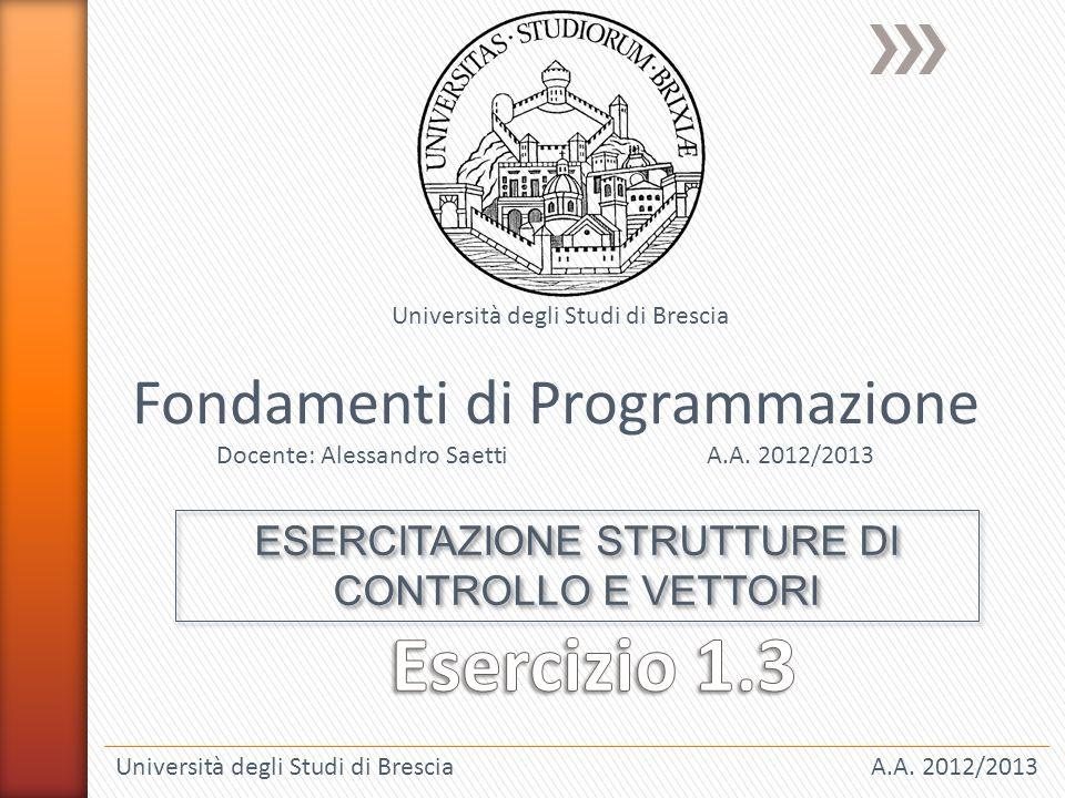 Università degli Studi di BresciaA.A.