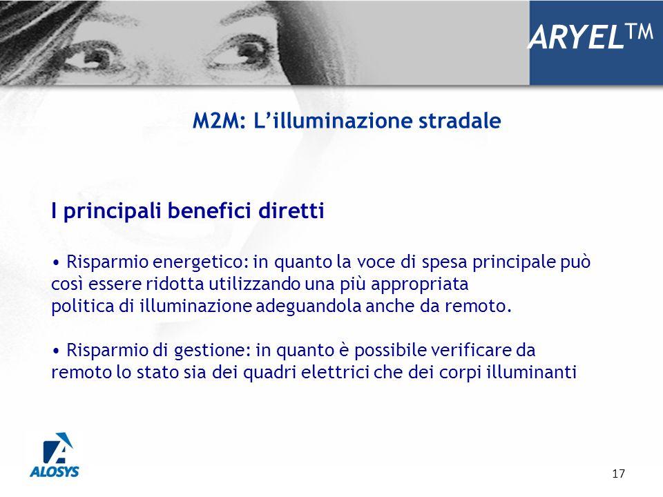 17 ARYEL TM I principali benefici diretti Risparmio energetico: in quanto la voce di spesa principale può così essere ridotta utilizzando una più appr