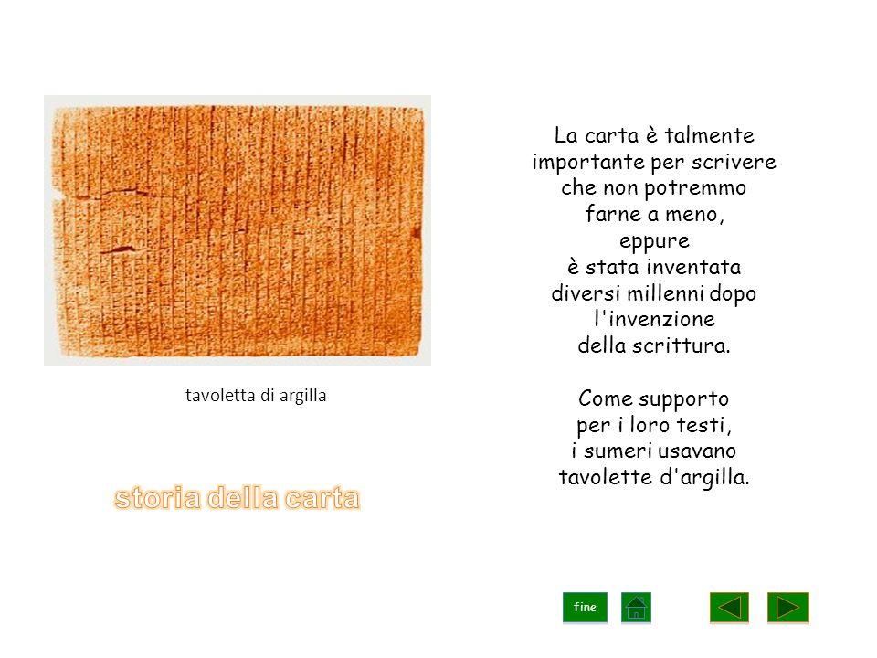 La carta è talmente importante per scrivere che non potremmo farne a meno, eppure è stata inventata diversi millenni dopo l invenzione della scrittura.