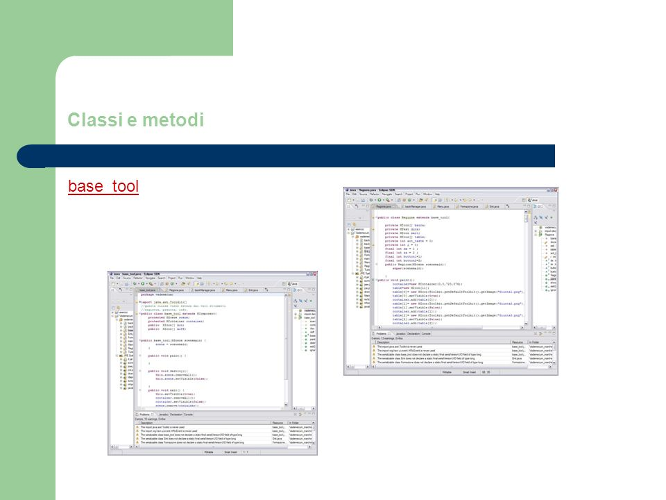 Classi e metodi base_tool