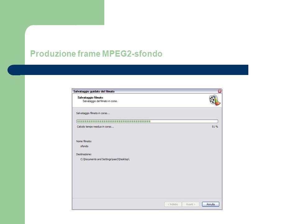 Produzione frame MPEG2-sfondo