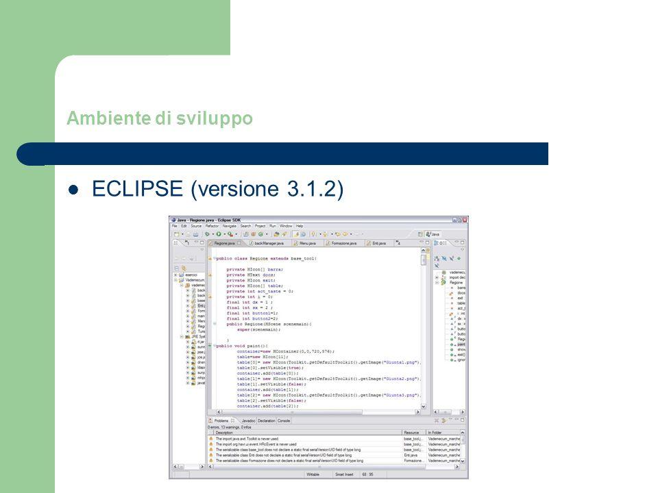 Ambiente di sviluppo ECLIPSE (versione 3.1.2)