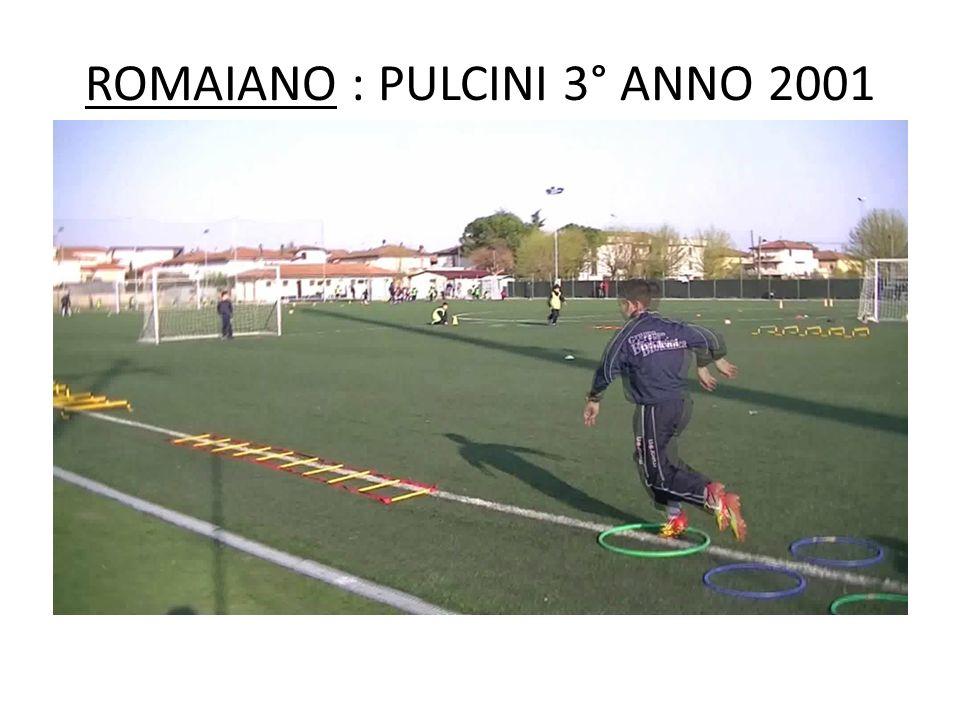 ROMAIANO : PULCINI 3° ANNO 2001