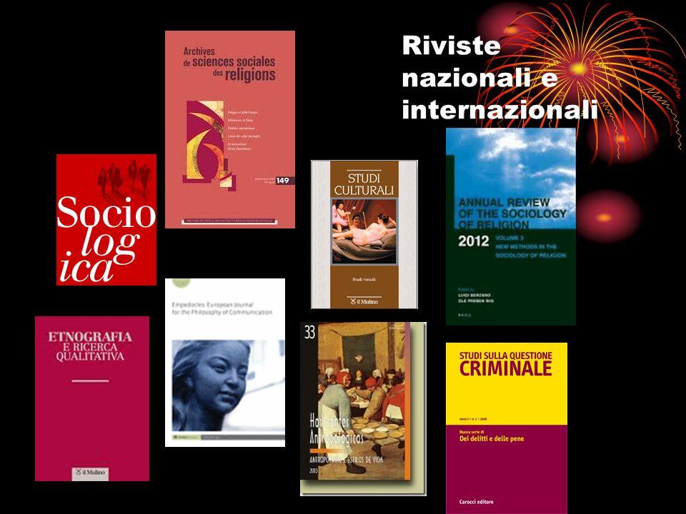 Riviste nazionali e internazionali