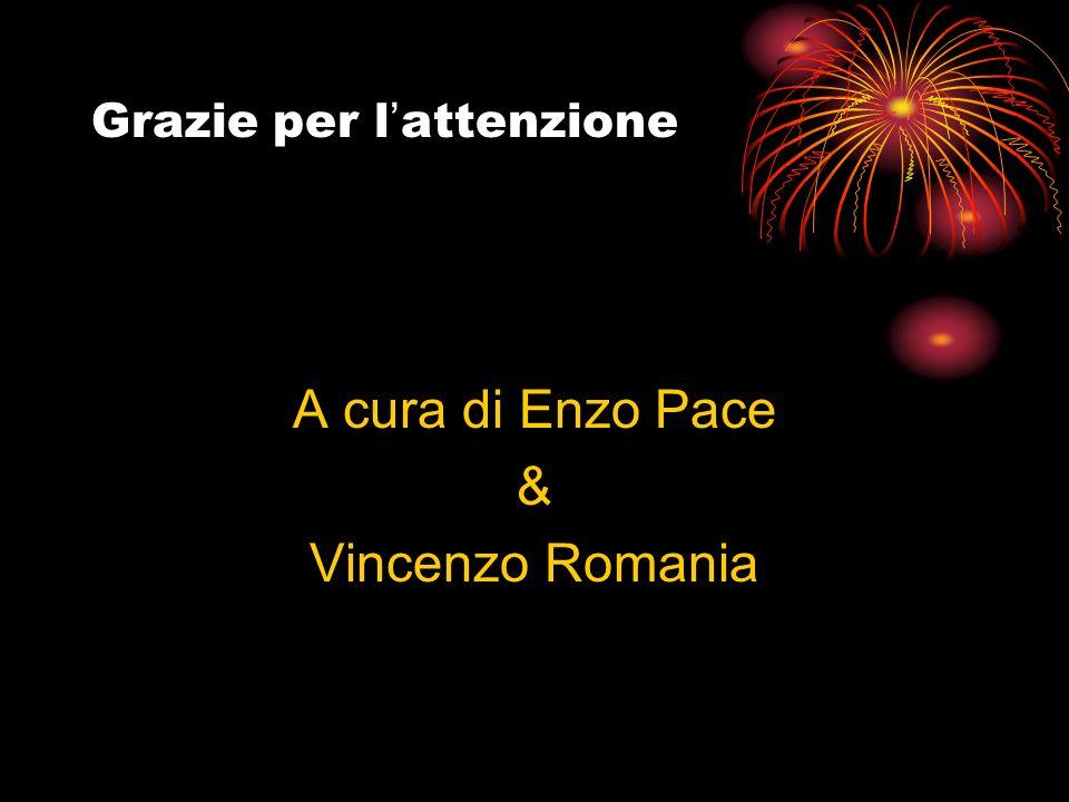 Grazie per l attenzione A cura di Enzo Pace & Vincenzo Romania