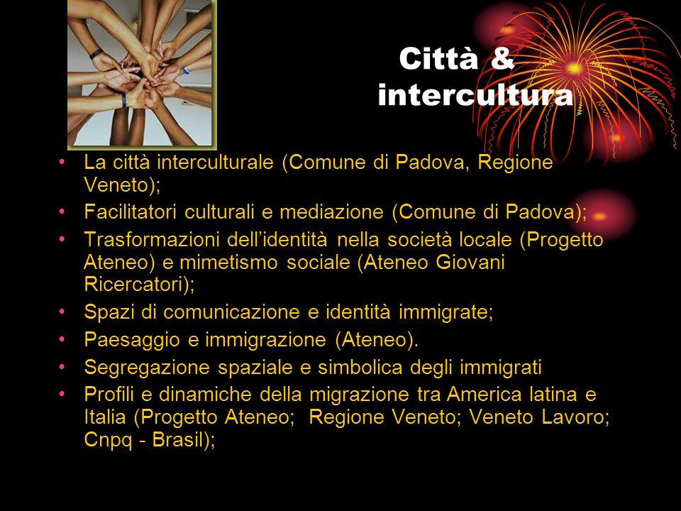 Città & intercultura La città interculturale (Comune di Padova, Regione Veneto); Facilitatori culturali e mediazione (Comune di Padova); Trasformazion