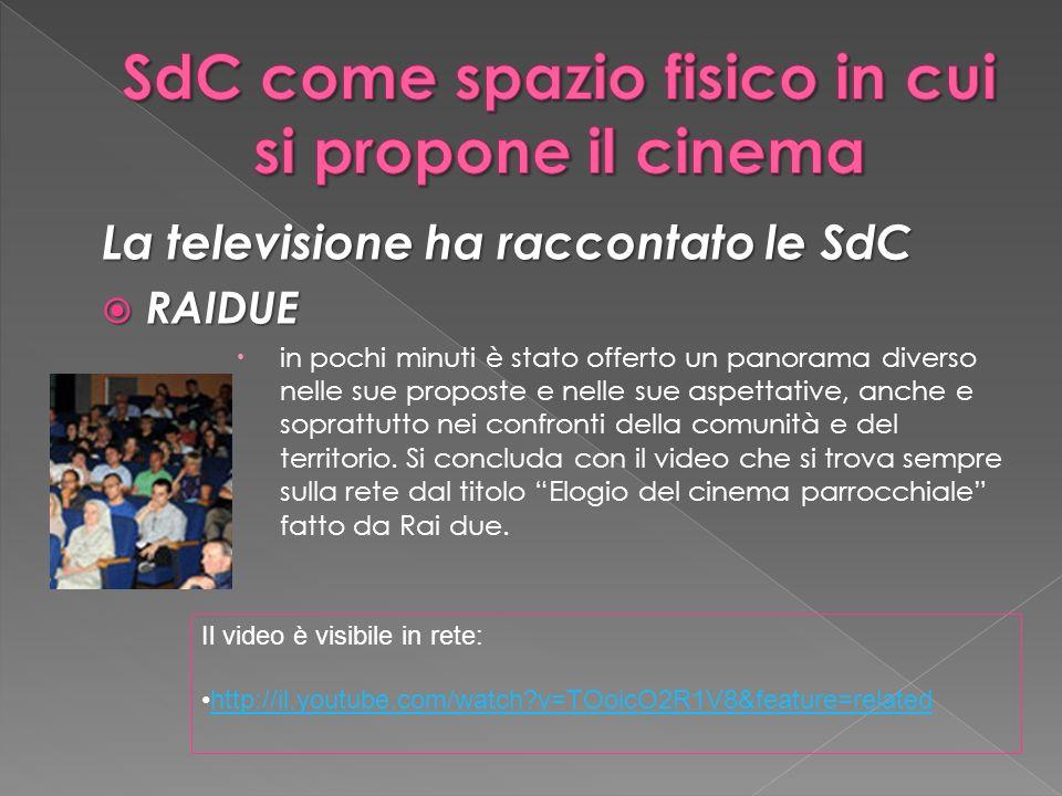 La televisione ha raccontato le SdC RAIDUE RAIDUE in pochi minuti è stato offerto un panorama diverso nelle sue proposte e nelle sue aspettative, anche e soprattutto nei confronti della comunità e del territorio.