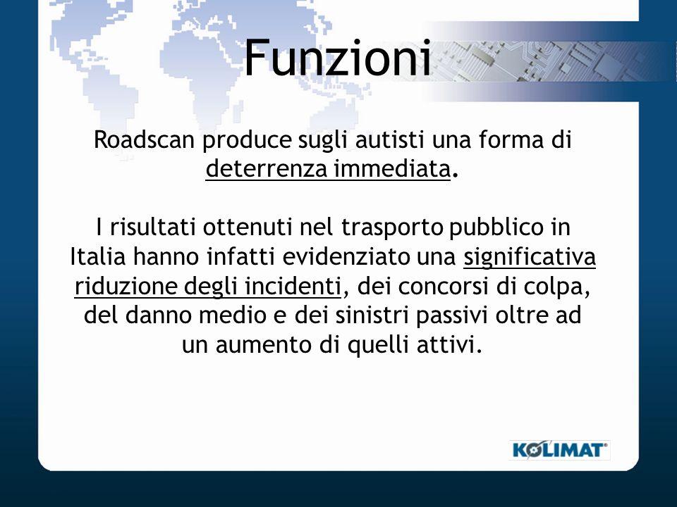 Funzioni Roadscan produce sugli autisti una forma di deterrenza immediata. I risultati ottenuti nel trasporto pubblico in Italia hanno infatti evidenz