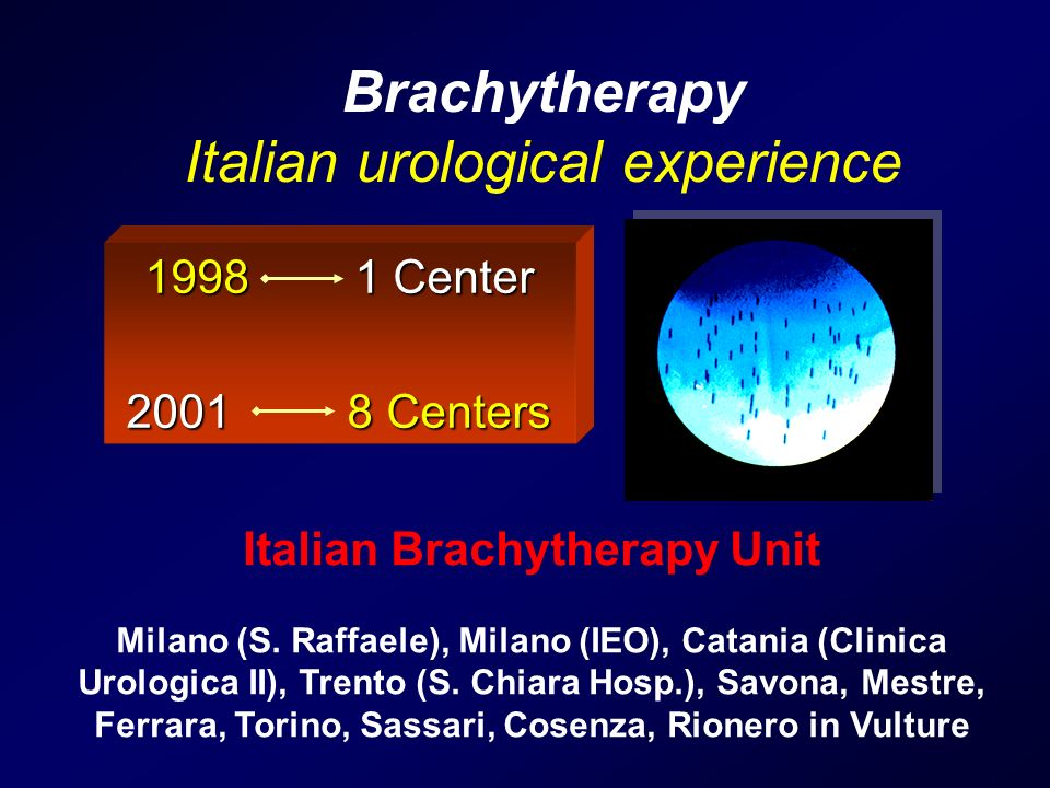 Italian Brachytherapy Unit Milano (S.