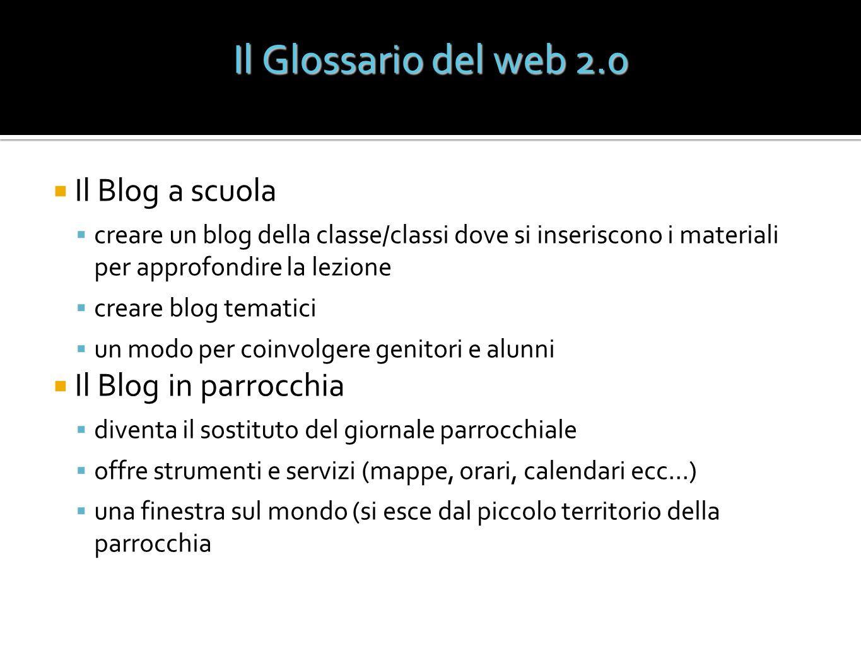 Il Blog a scuola creare un blog della classe/classi dove si inseriscono i materiali per approfondire la lezione creare blog tematici un modo per coinv