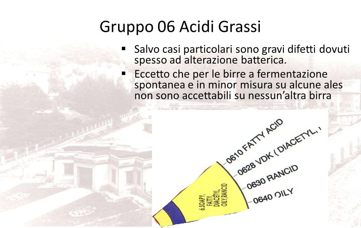 05 Fenolico Fenolico: è dovuto al 4-vinil-guaiacolo presente in birra tra 0,05 e 0,55 mg/l la soglia di percezione è 0,2mg/l questa sostanza è spesso