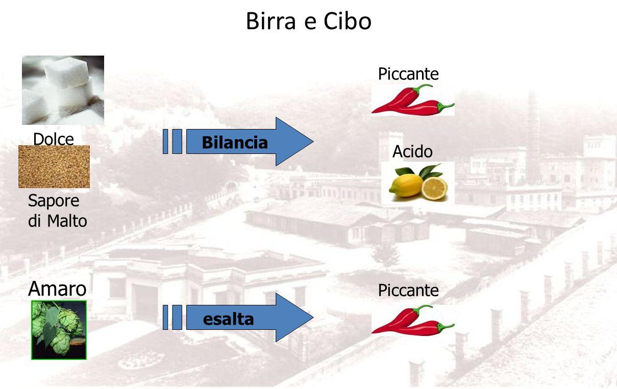 Birra e Cibo Umami AmaroAlcol Malto arrostito CO2 Grasso Bilancia Dolce
