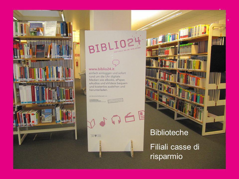 Biblioteche Filiali casse di risparmio