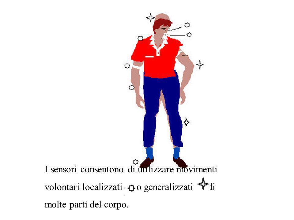 I sensori consentono di utilizzare movimenti volontari localizzati ( ) o generalizzati ( ) di molte parti del corpo.