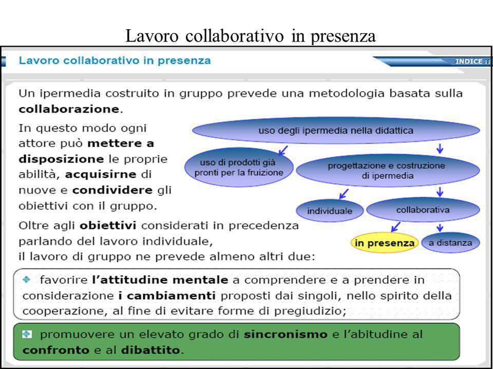 Lavoro collaborativo in presenza