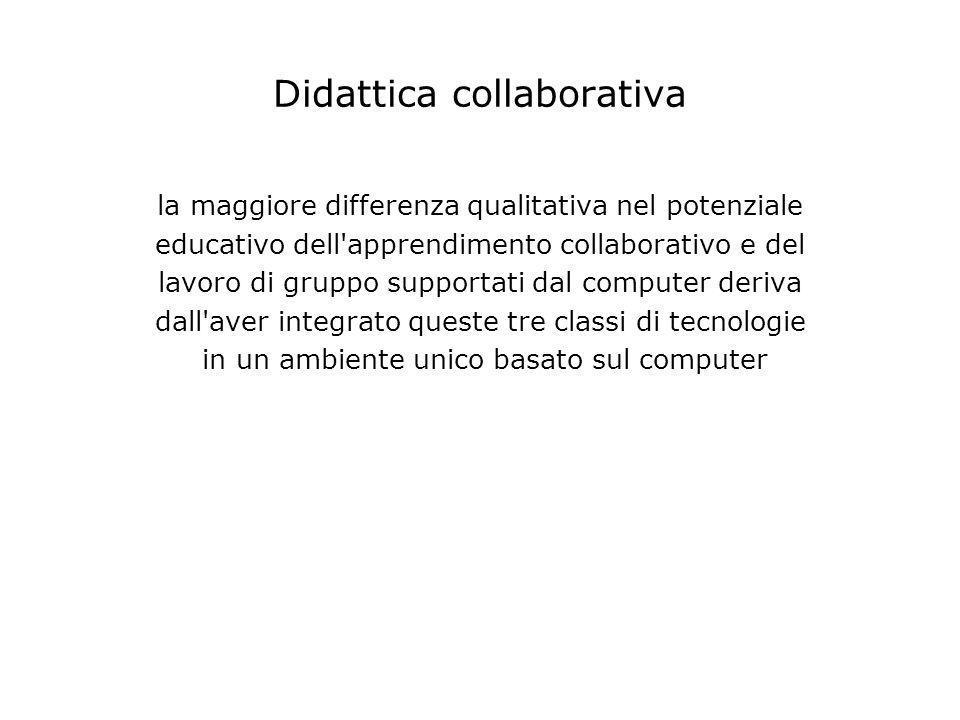 Didattica collaborativa la maggiore differenza qualitativa nel potenziale educativo dell'apprendimento collaborativo e del lavoro di gruppo supportati