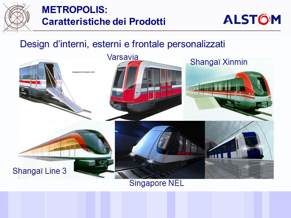 13 Design dinterni, esterni e frontale personalizzati METROPOLIS: Caratteristiche dei Prodotti Un Prodotto ed unImmagine Personalizzata Shangaï Line 3 Shangaï Xinmin Singapore NEL Varsavia