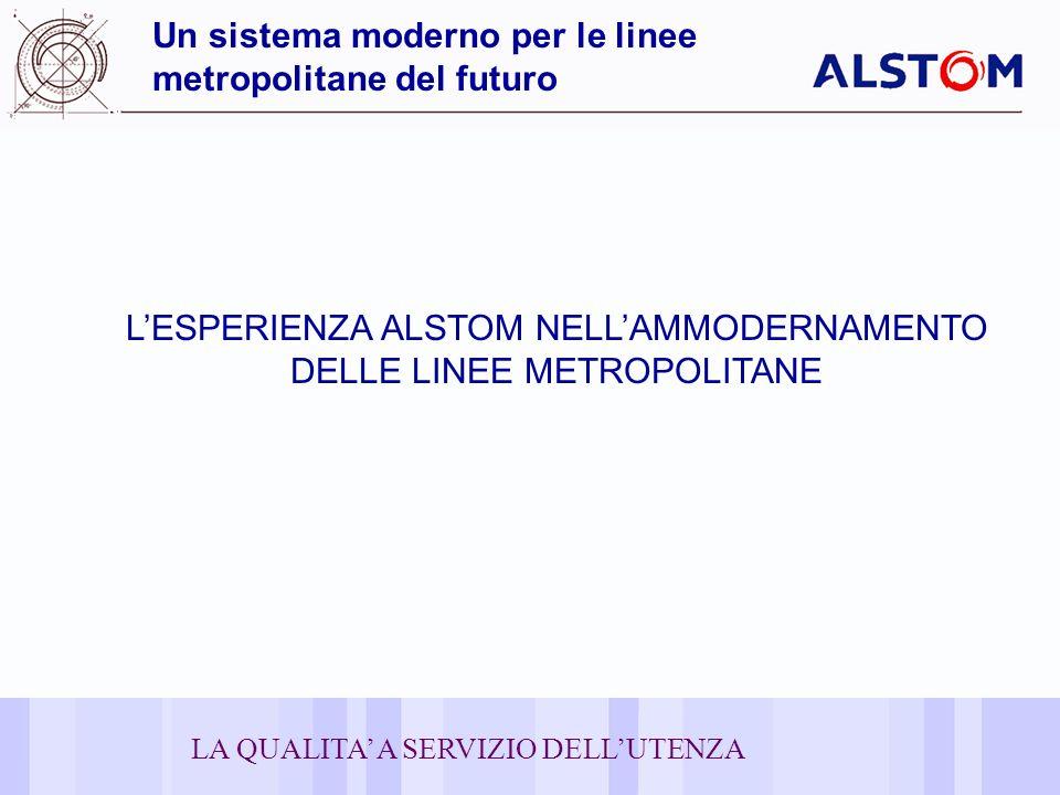20 Un sistema moderno per le linee metropolitane del futuro LESPERIENZA ALSTOM NELLAMMODERNAMENTO DELLE LINEE METROPOLITANE LA QUALITA A SERVIZIO DELLUTENZA
