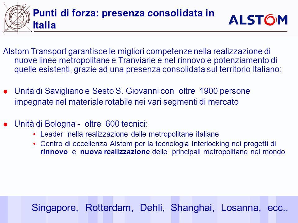 24 Punti di forza: presenza consolidata in Italia Alstom Transport garantisce le migliori competenze nella realizzazione di nuove linee metropolitane