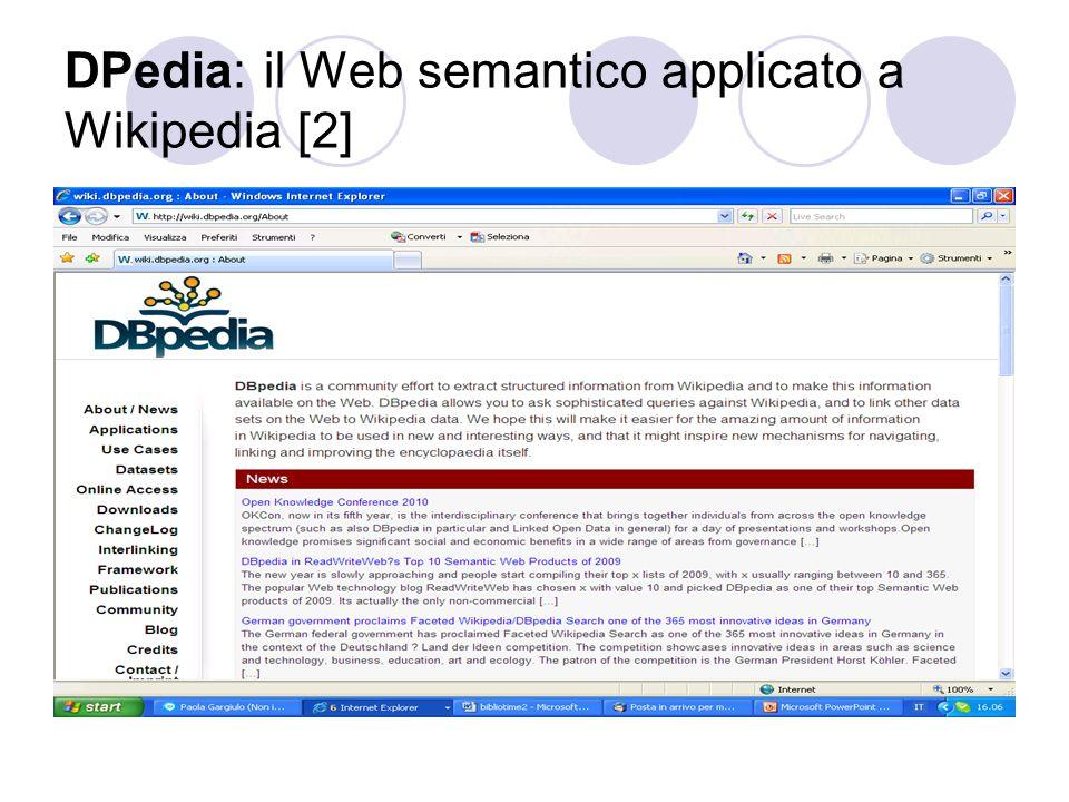 DPedia: il Web semantico applicato a Wikipedia [2]