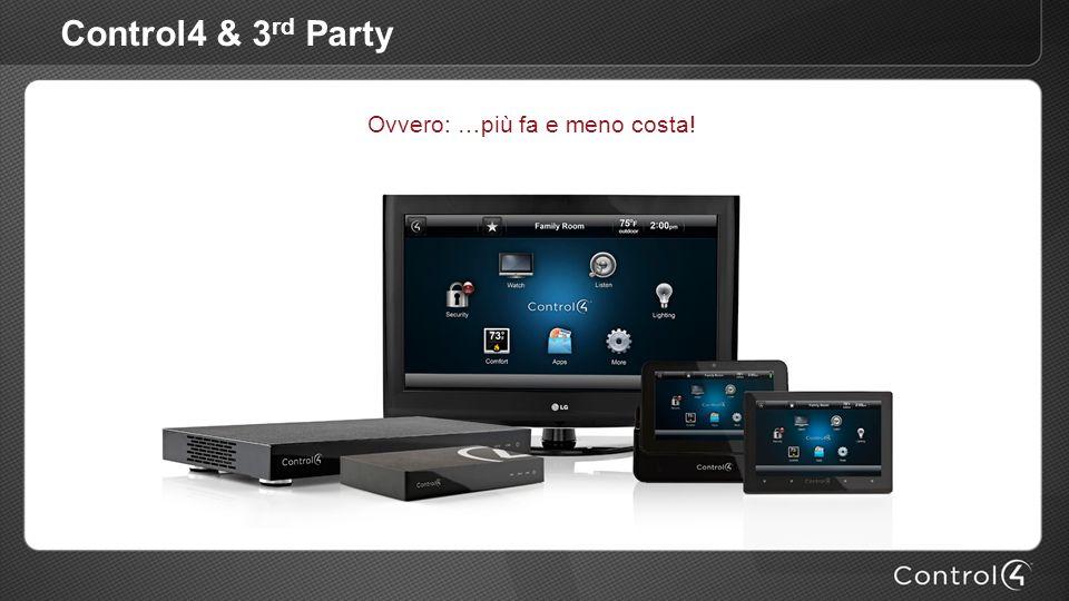 Control4 & 3 rd Party Ovvero: …più fa e meno costa!
