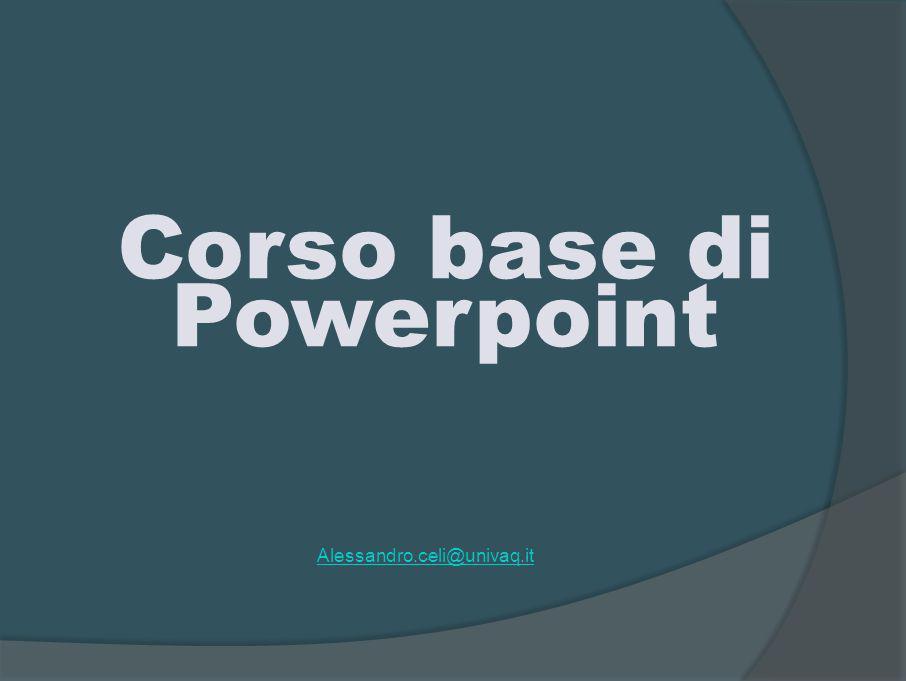PowerPoint Microsoft PowerPoint è un programma Microsoft che fa parte della suite Microsoft Office.