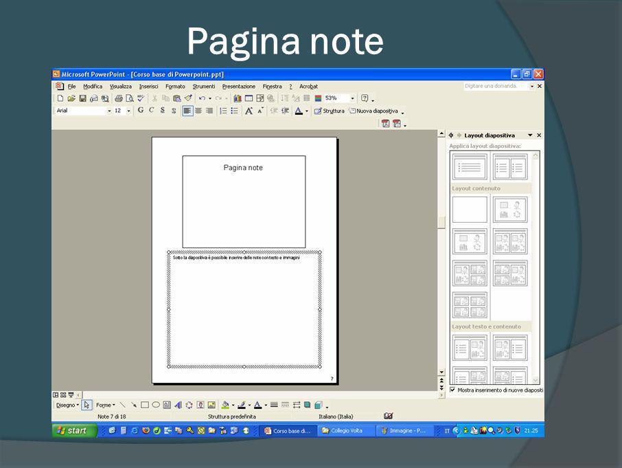 Altre Viste Nella visualizzazione normale il video è diviso in tre parti A sinistra vediamo lelenco delle diapositive come icone o come un indice Al centro vediamo la diapositiva Corrente A destra vediamo diversi menù a seconda dei comandi che scegliamo