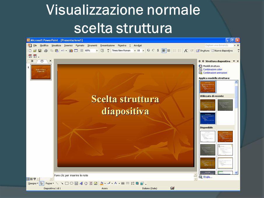 Visualizzazione normale scelta struttura (2007)