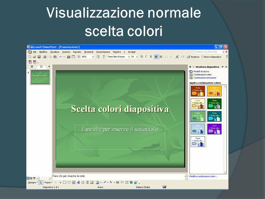 Visualizzazione normale scelta colori (2007)