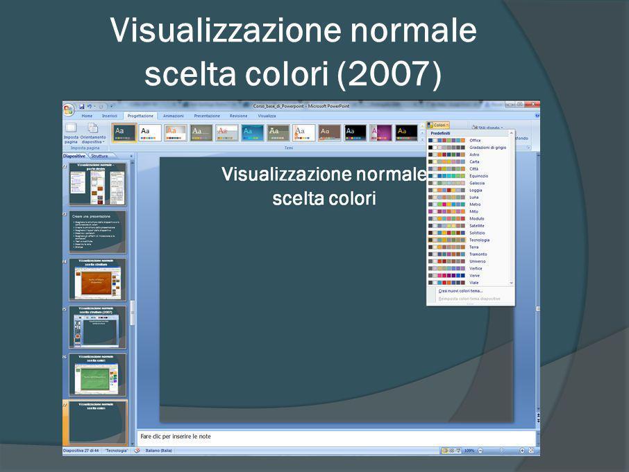 Scelta struttura e colori