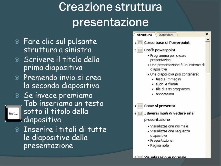 Scelta Layout diapositiva Ogni diapositiva può avere un contenuto diverso Applicando un layout ad una diapositiva la si predispone a contenere fino a quattro parti separate con testo, immagini od altri tipi di documento È sempre possibile creare un layout personalizzato