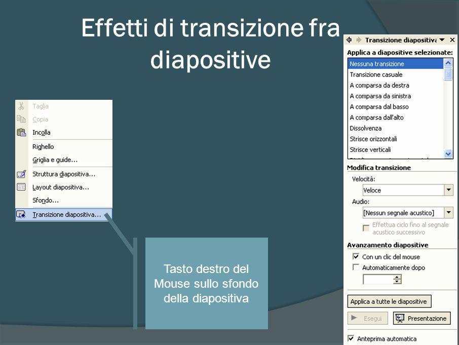 Scelta effetti transizione diapositiva