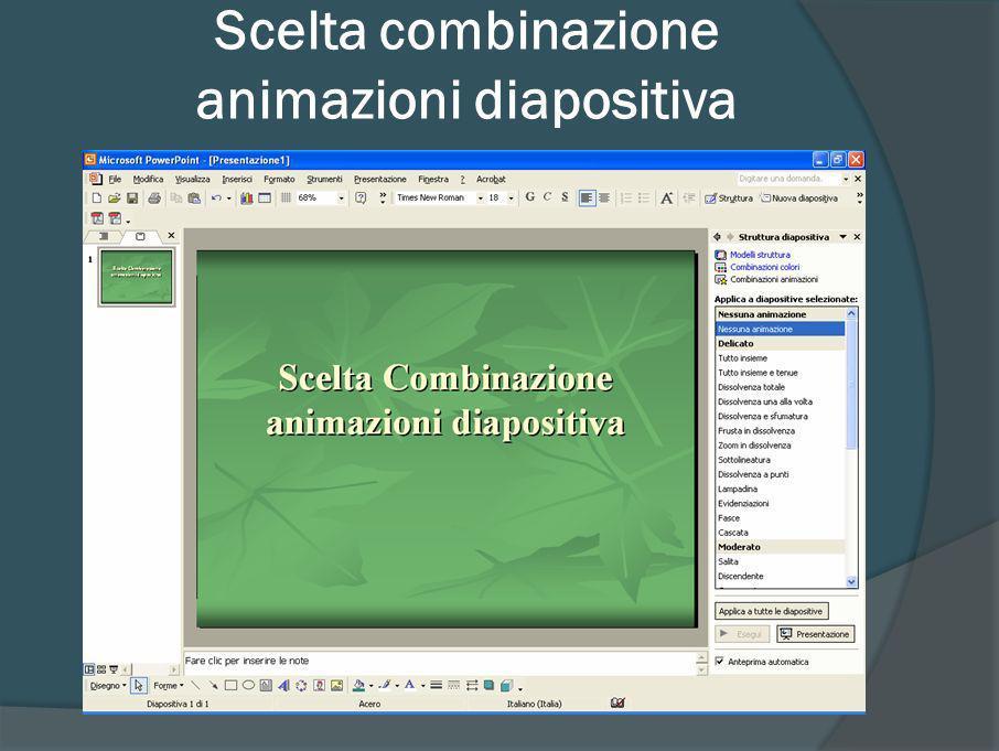 Animazioni personalizzate degli oggetti nelle diapositive Tasto destro del mouse su un oggetto nella diapositiva