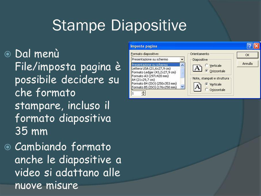 Stampe stampati Con la stampa stampati possiamo distribuire al pubblico la nostra presentazione in poche pagine