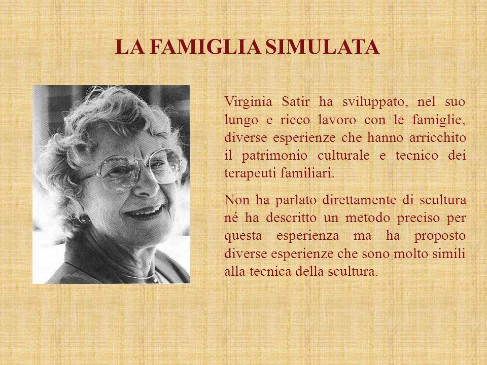 LA FAMIGLIA SIMULATA Virginia Satir ha sviluppato, nel suo lungo e ricco lavoro con le famiglie, diverse esperienze che hanno arricchito il patrimonio